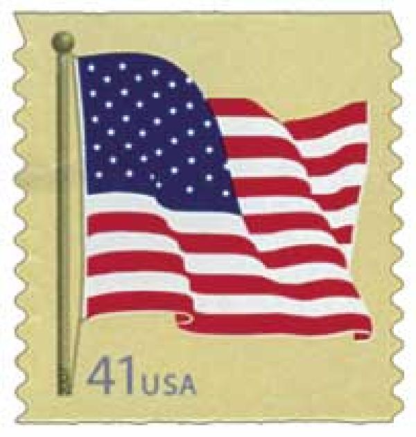 2007 41c American Flag, coil (SSP)