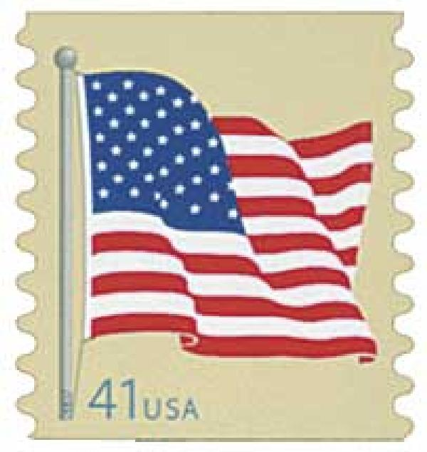 2007 41c American Flag, coil (AV)