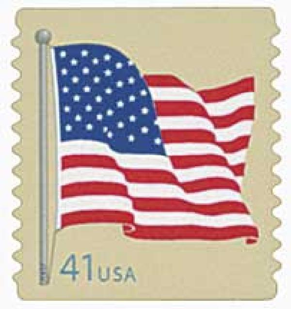 2007 41c American Flag, from coil of 3,000 (AV)