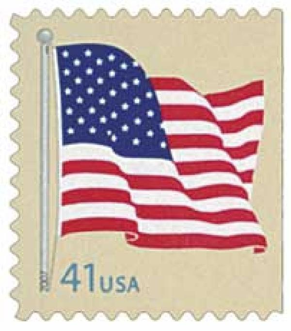 2007 41c American Flag, from convertilbe booklet of 10