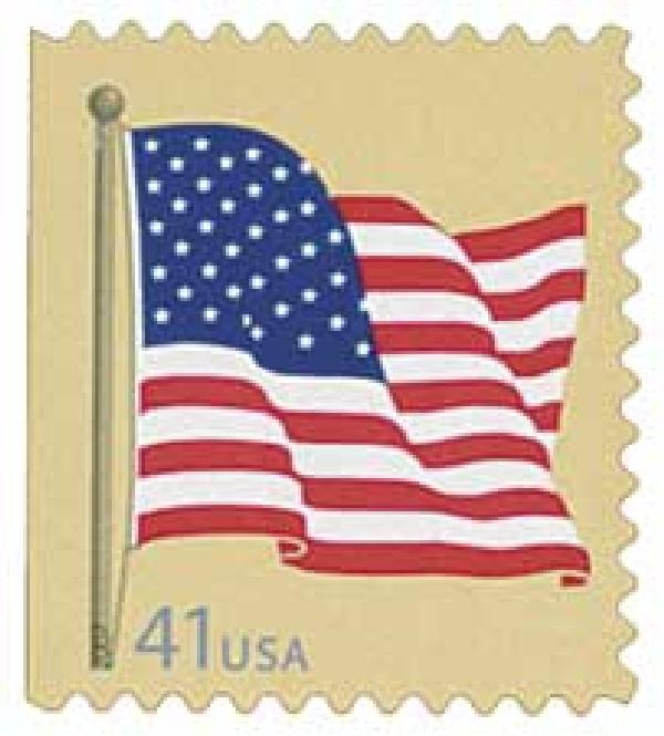 2007 41c American Flag, from convertilbe booklet of 20