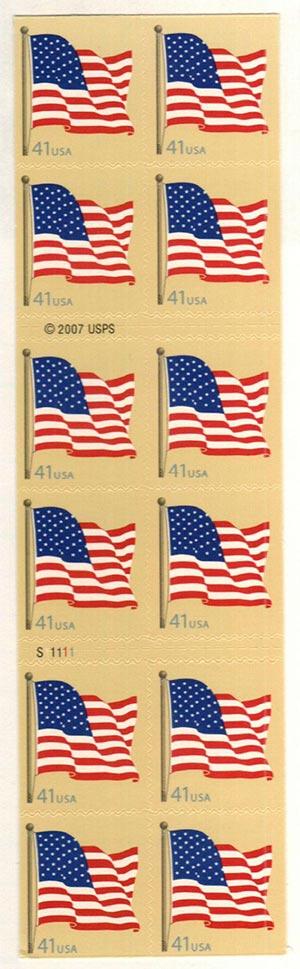 2007 41c American Flag Conv. Bklt of 20