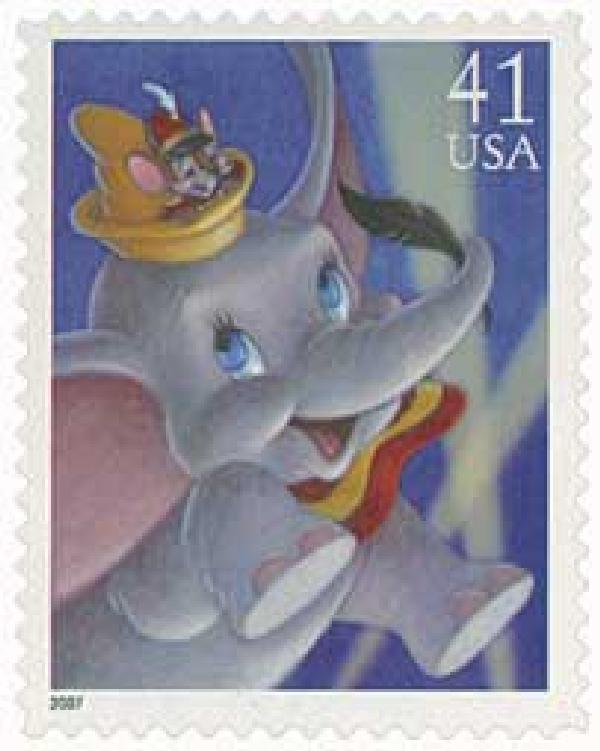 2007 41c Dumbo and Timothy Mouse
