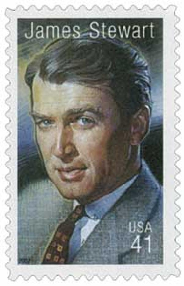 2007 41c Legends of Hollywood: James Stewart
