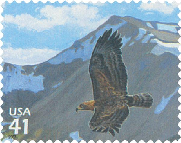 2007 42c Alpine Tundra: Golden Eagle FDC