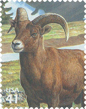 2007 42c Alpine Tundra: Bighorn Sheep FDC