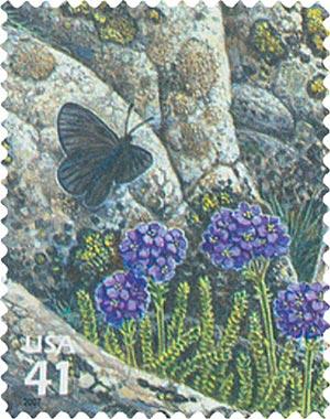2007 42c Alpine Tundra: Magdalena Butterfly
