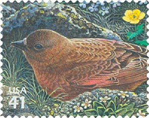 2007 42c Alpine Tundra:Brown-Capped Rosy-Finch