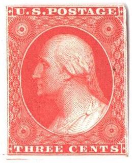1857-60 3c scarlet