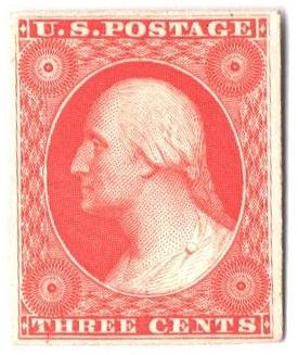 1851-60 3c scarlet