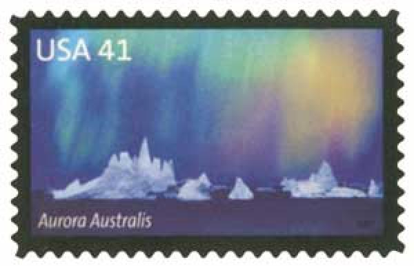 2007 41c Polar Lights: Aurora Australis