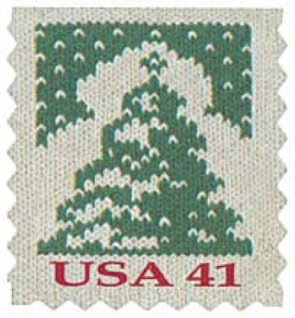 2007 41c Contemporary Christmas: Holiday Knits, Tree, ATM booklet