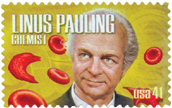2008 41c American Scientists: Linus Paulin