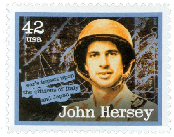 2008 42c American Journalist: John Hersey