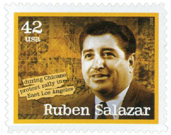 2008 42c American Journalist: Ruben Salazar