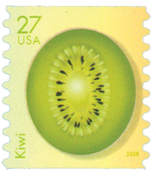 2008 27c Tropical Fruit: Kiwi, coil