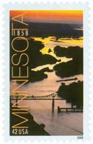 2008 42c Minnesota Statehood 150th Anniversary