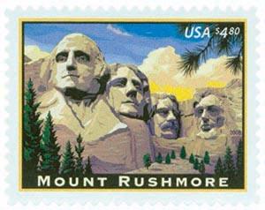 2008 $4.80 Mount Rushmore, Priority Mail