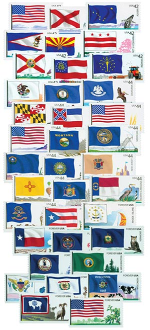 2008-12 Flags of Our Nation, set of 60 stamps