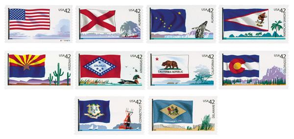 2008 42c Flags of Our Nation - Set I