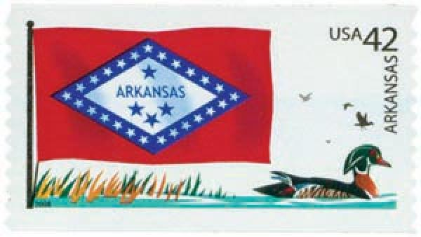 2008 42c Flags of Our Nation: Arkansas