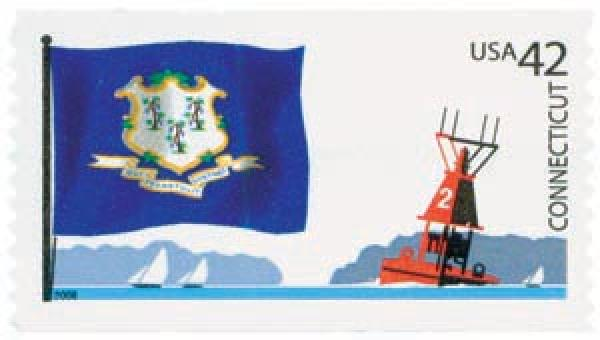 2008 42¢ Flags of Our Nation, Connecticut stamp