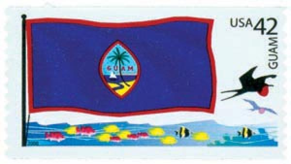 2008 42c Flags of Our Nation: Guam