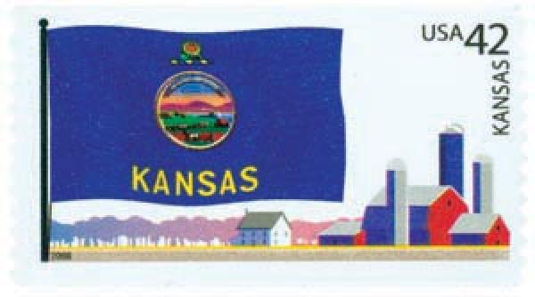 2008 42c Flags of Our Nation: Kansas