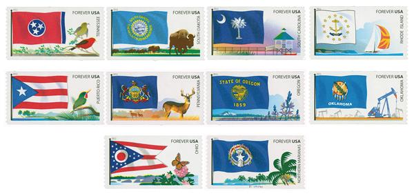 2011 First-Class Forever Stamp - Flags of Our Nation: 5th Set