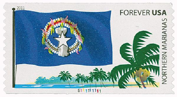 2011 First-Class Forever Stamp - Flags of Our Nation, Northern Mariana Islands