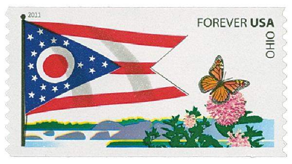 2011 First-Class Forever Stamp - Flags of Our Nation: Ohio