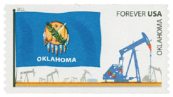 2011 First-Class Forever Stamp - Flags of Our Nation: Oklahoma