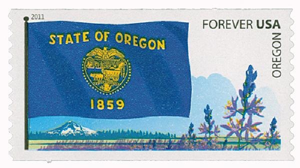2011 First-Class Forever Stamp - Flags of Our Nation: Oregon