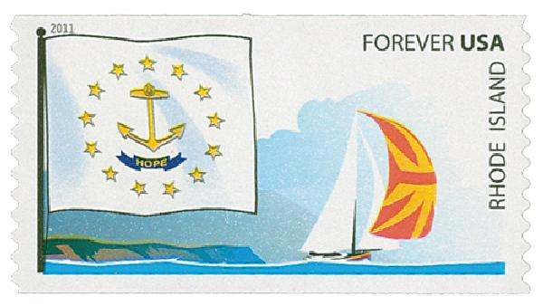 2011 First-Class Forever Stamp -  Flags of Our Nation: Rhode Island