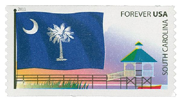 2011 First-Class Forever Stamp -  Flags of Our Nation: S.Carolina