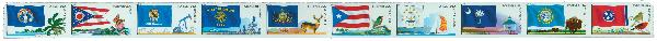 2011 44c Flags of Our Nation: 5th Edition, strip of 10 stamps
