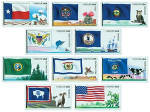 2012 First-Class Forever Stamp - Flags of Our Nation: 6th Set