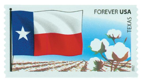 2012 First-Class Forever Stamp -  Flags of Our Nation: Texas