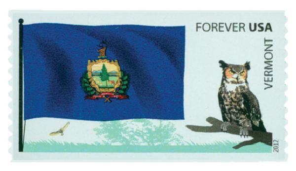 2012 First-Class Forever Stamp -  Flags of Our Nation: Vermont