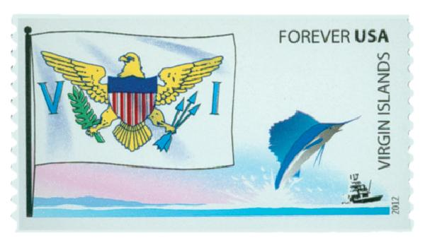 2012 First-Class Forever Stamp -  Flags of Our Nation: Virgin Islands
