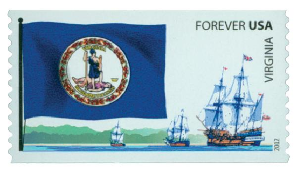 2012 First-Class Forever Stamp -  Flags of Our Nation: Virginia