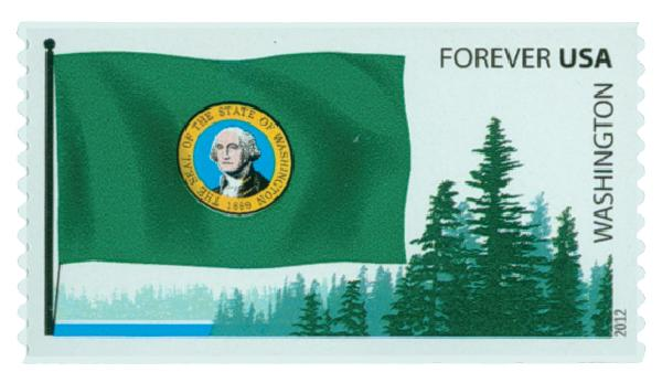 2012 First-Class Forever Stamp -  Flags of Our Nation: Washington