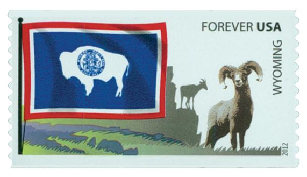 2012 First-Class Forever Stamp -  Flags of Our Nation: Wyoming