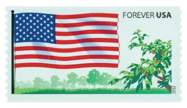 2012 First-Class Forever Stamp -  Flags of Our Nation: US Flag