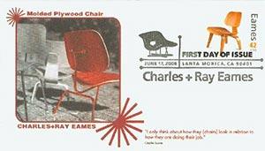 2008 42c Eames, Laminated Wood Chair
