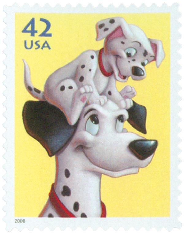 2008 42c Art of Disney-Pongo and Pup