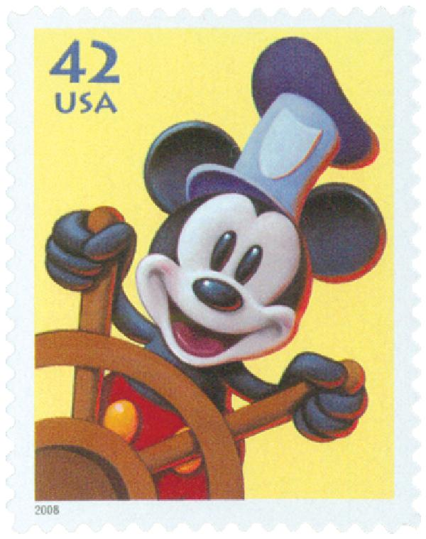 2008 42c Art of Disney-Steamboat Willie