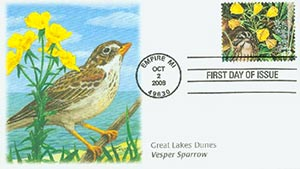 2008 42c Gr. Lakes Dunes Vesper Sparrow