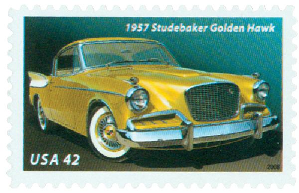 2008 42c Fins and Chrome: 1957 Studebaker Golden Hawk