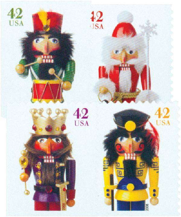 2008 42c Contemporary Christmas: Holiday Nutcrackers, convertible booklet